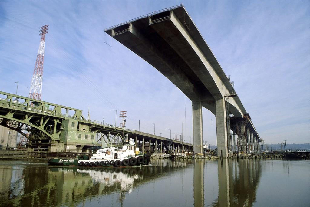 West Seattle Bridge under construction
